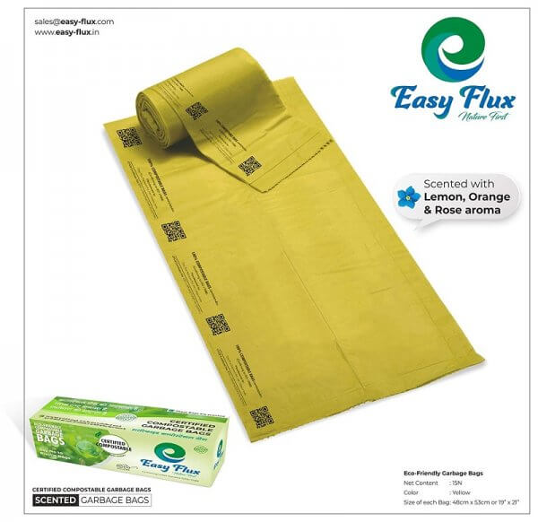 Easy-Flux Compostable Scented Garbage Bags