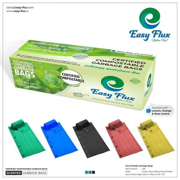 Certified Compostable Garbage Bags